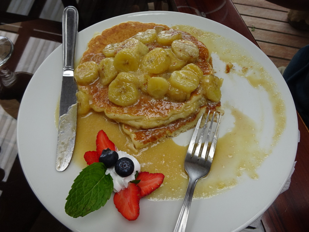 Carmelized Banana Pancakes