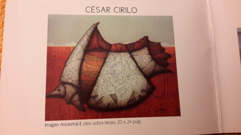 We both loved the Cesar Cirilo paintings. This is from a post card.
