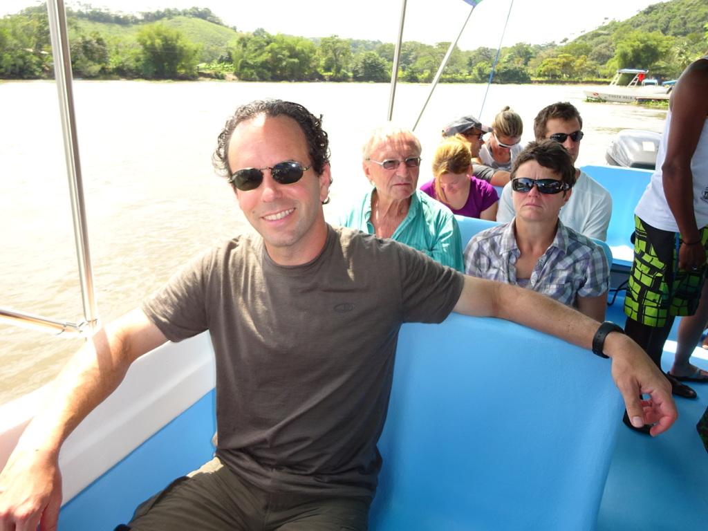 Aaron in the boat in Sierpe.