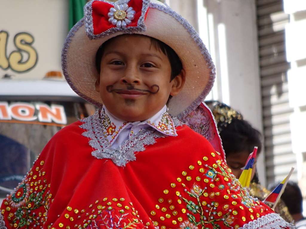 Loads of cute little tots in traditional costumes.