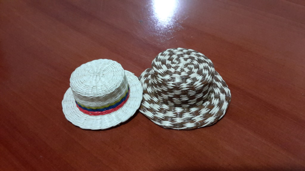 We purchased these minaiture hats at a womens' cooperative.