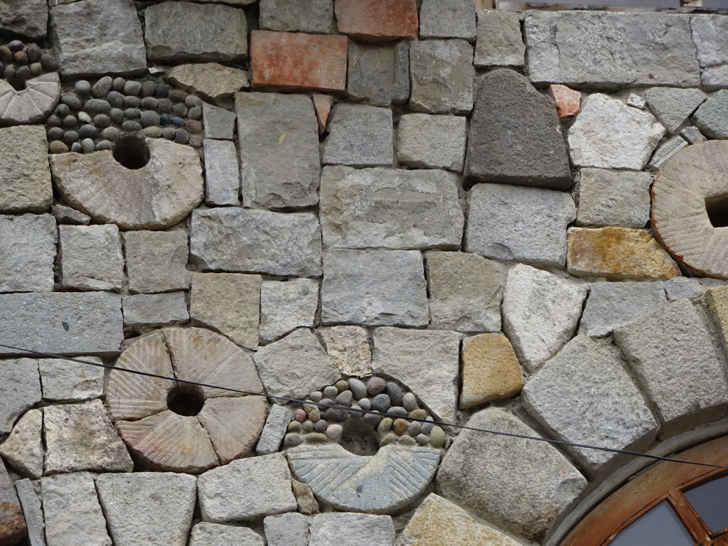 Amazing masonry...we think these might be milling stones.