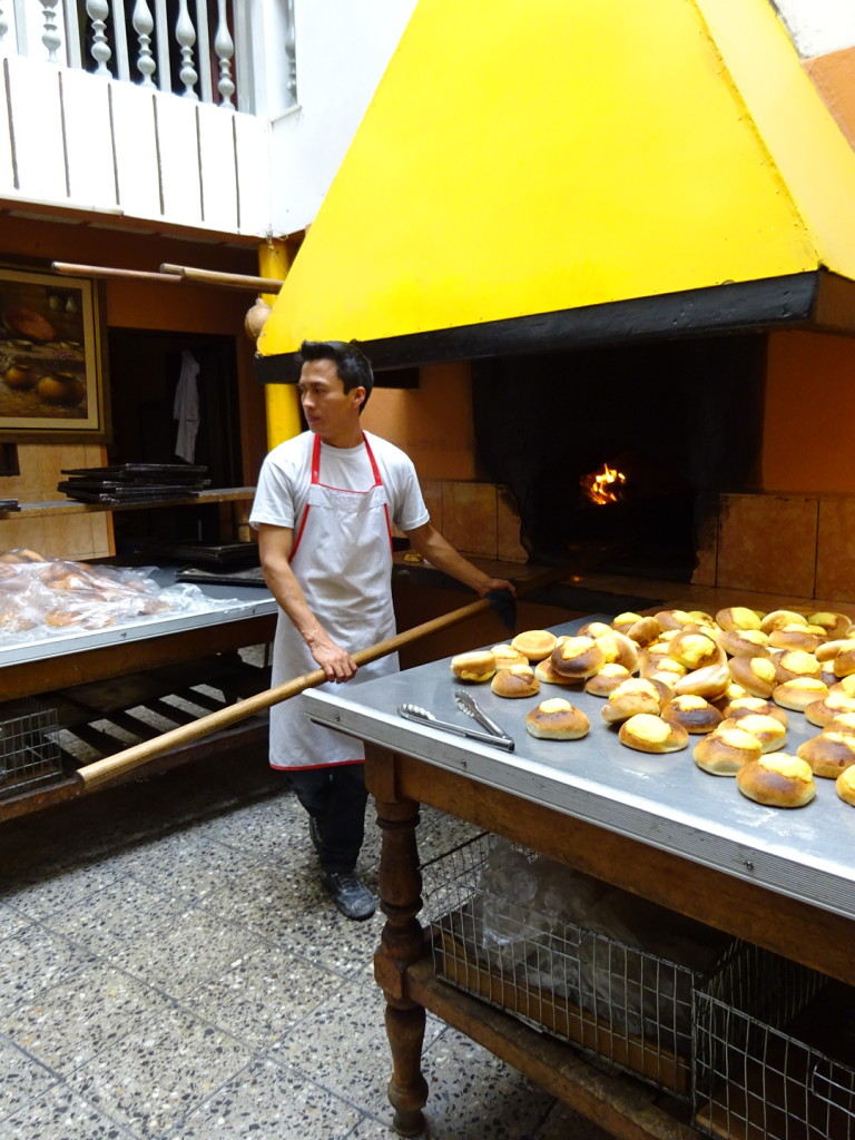 """Panaria"" (bakers) are on every block. No matter where you walk it smells like fresh baked bread."