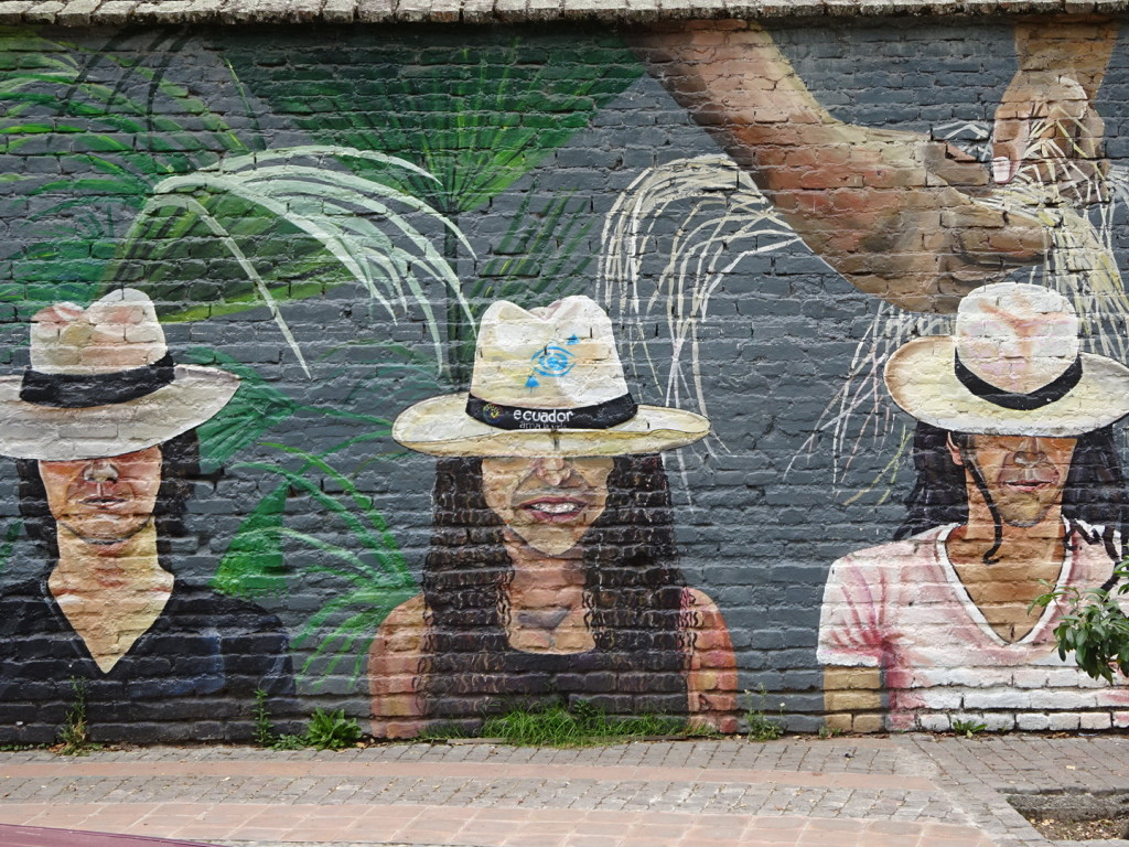Ahhh, Panama hats...made right here in Ecuador! True fact!