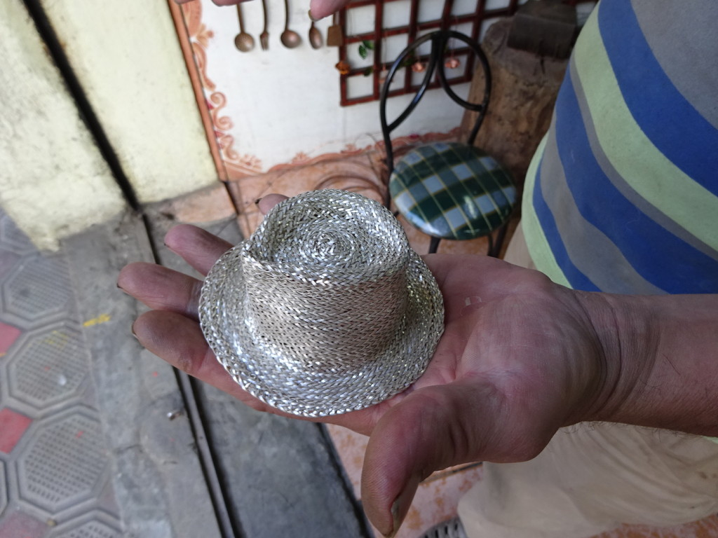Marco works in silver as well as copper. Great hat, eh?