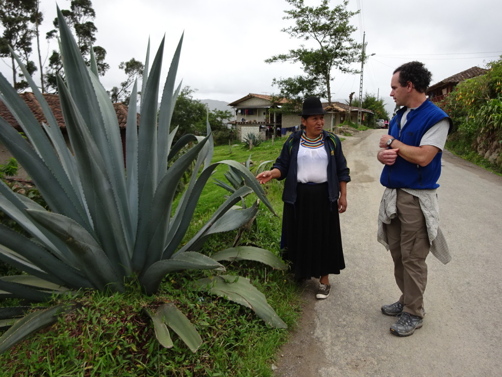 On a walk through town, Maria took time to tell us about all sorts of plants, natural remidies and community life.