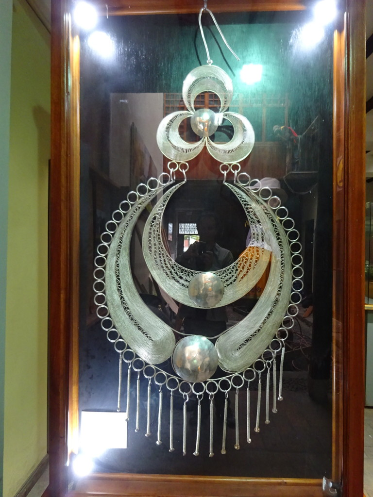 World's Largest Silver Filigree Earring - over 3' tall!