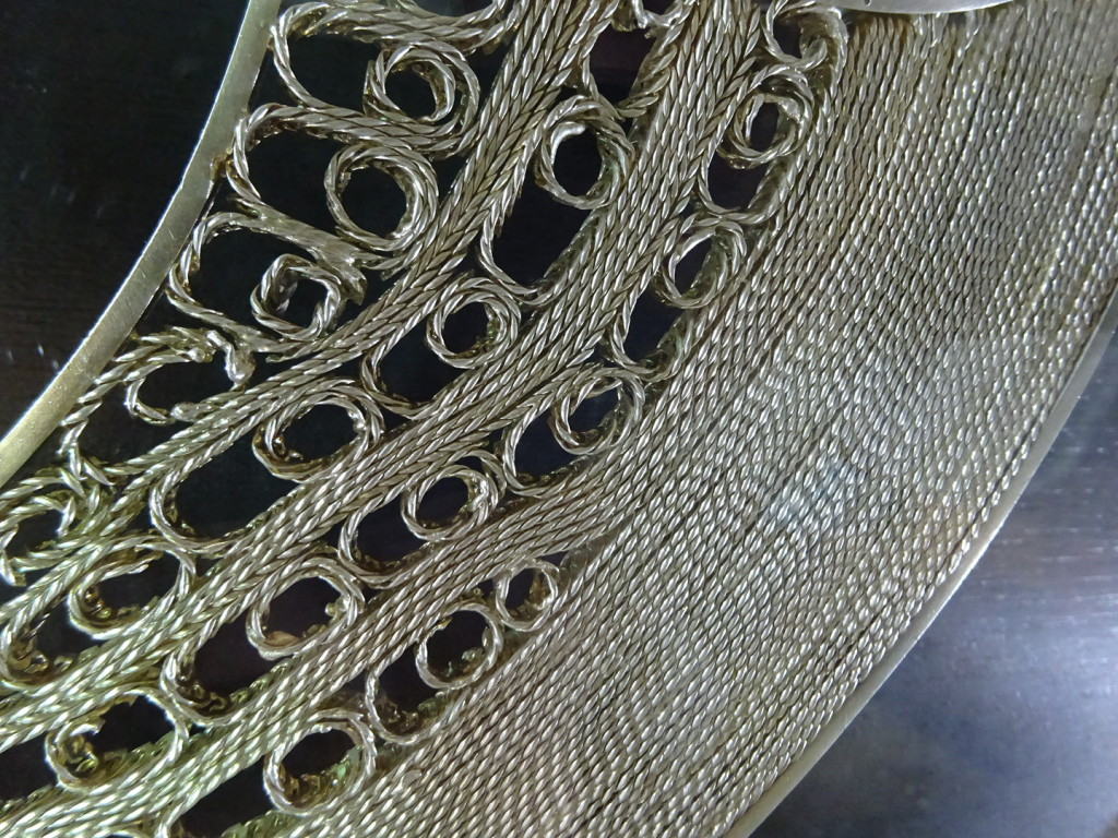 Some of the filigree in the World's Largest Filigree Earring - this wire had to be a couple of mm thick.