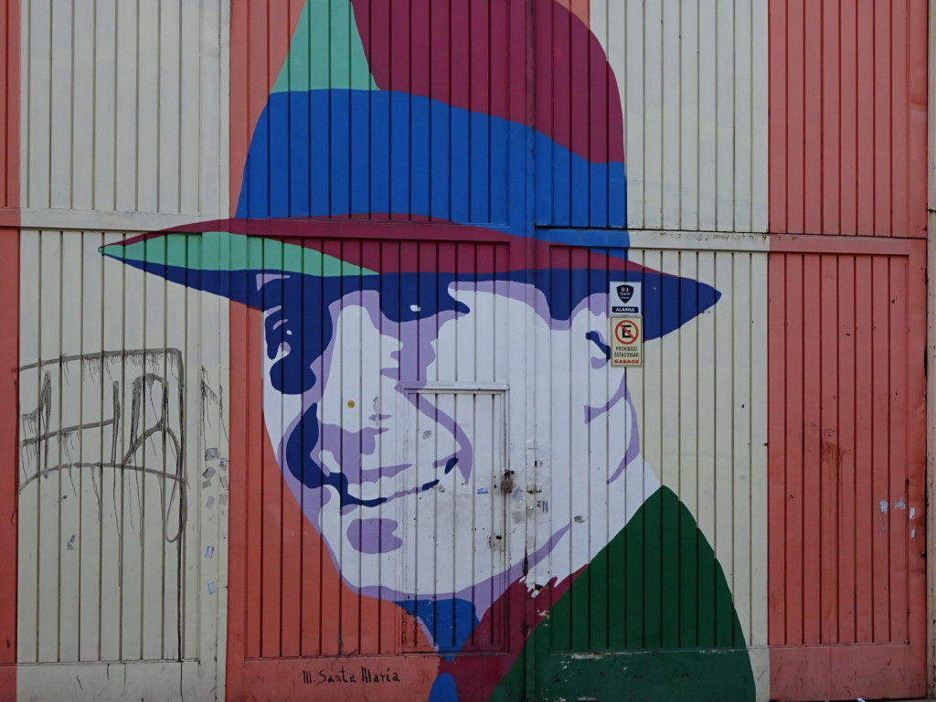 One neighborhood had a bunch of pieces showing Carlos Gardel, an old star of tango dancing!