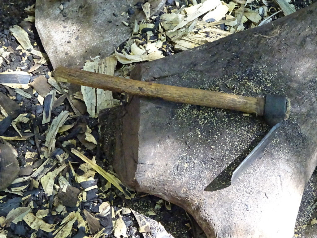 My main carving tool before switching to chisels for the finer details.
