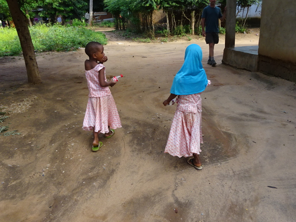 I could not resist these little girls in the village.
