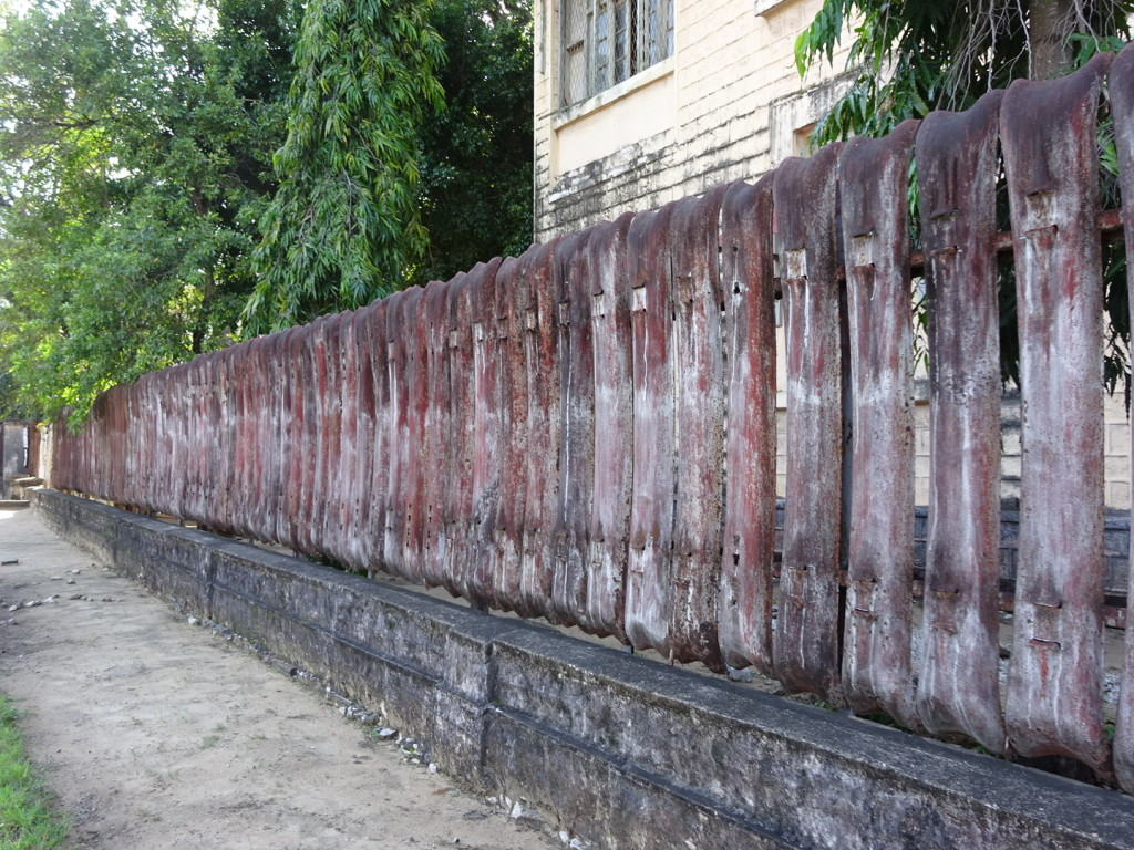 My favorite fence in Tanga - old bumpers. Nothing in Africa is wasted.