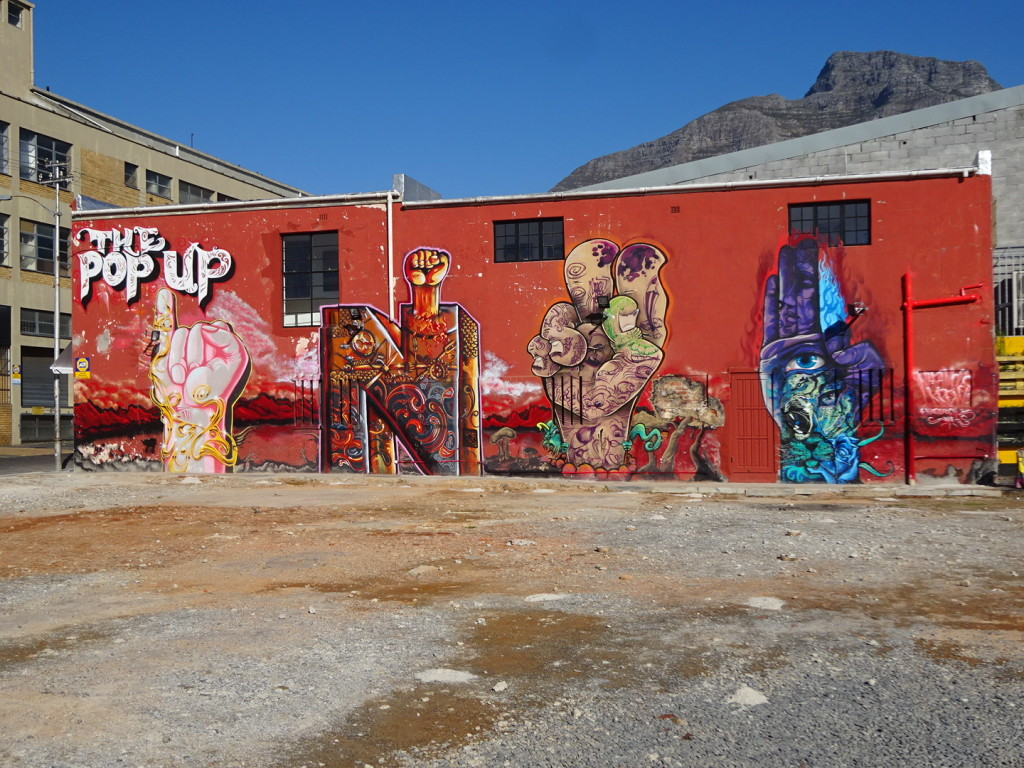 This was the side wall of a place called the Pop Up Shop. It was never open, but I'm guessing it was a gallery.
