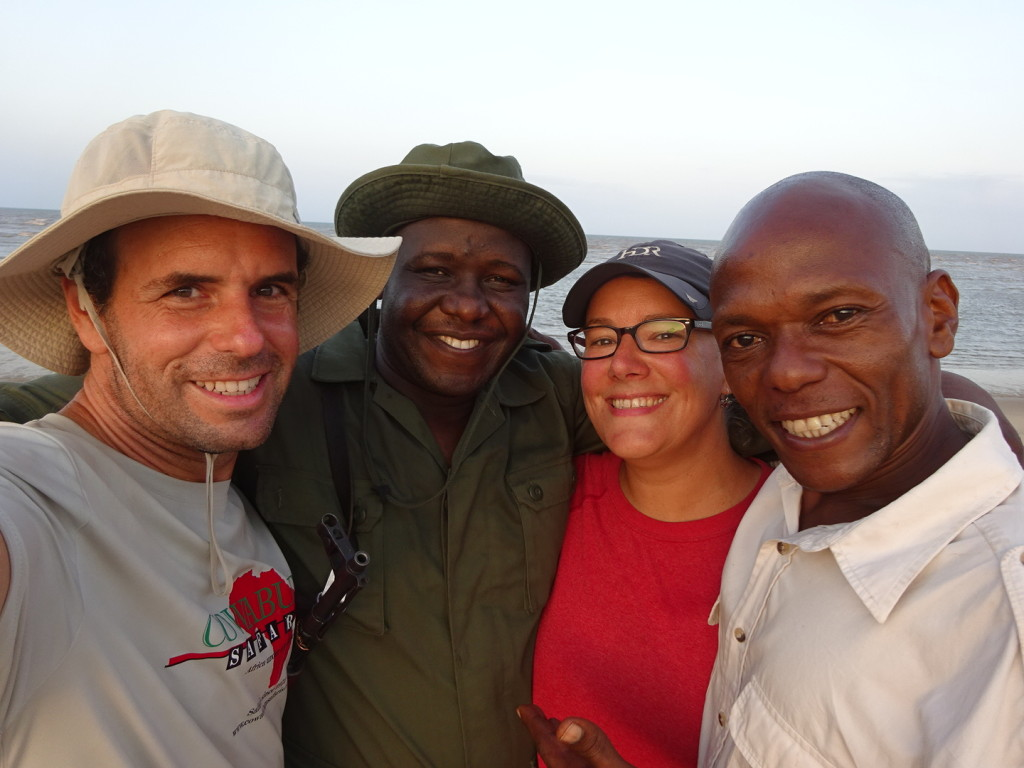 Group Shot - once we reached the ocean during our Saadani Walking Safari.