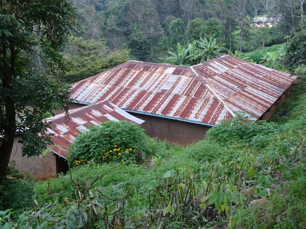 Tiiiiiiin roof. Rusted. We just liked the look of it.