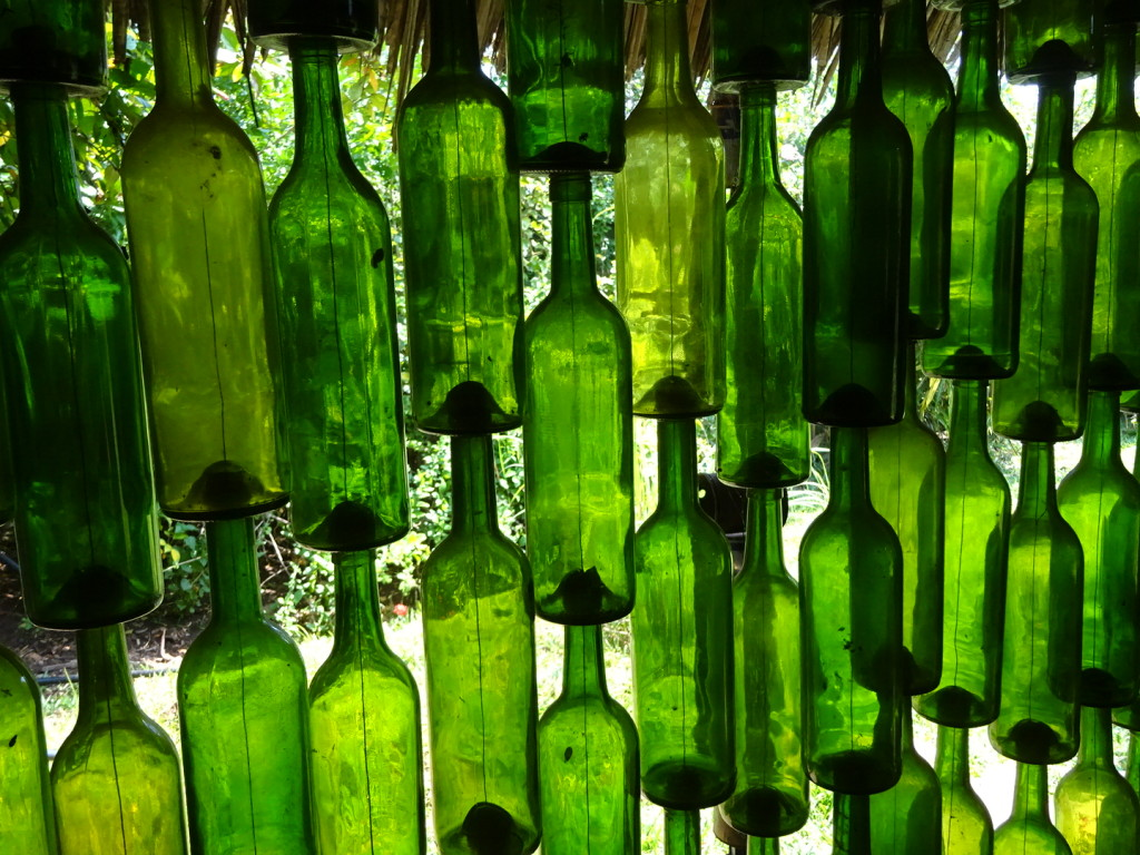 A wall of bottles was very cool.