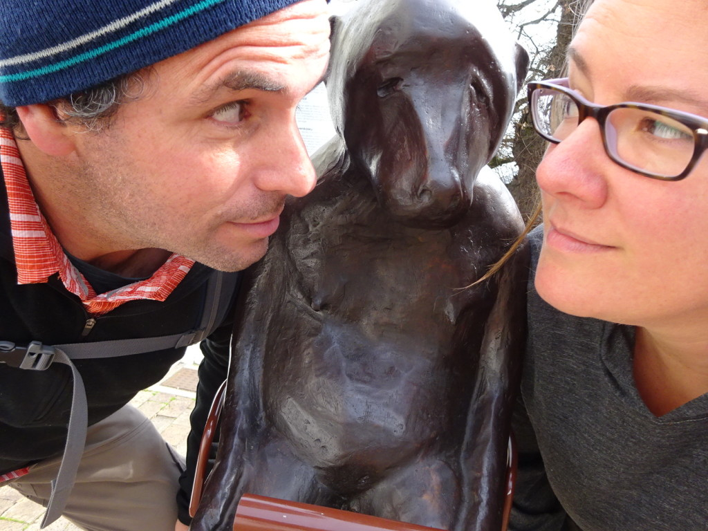 Our last chance to see a baboon! Thank you Stellenbosch sculptor, and thank you road trip!
