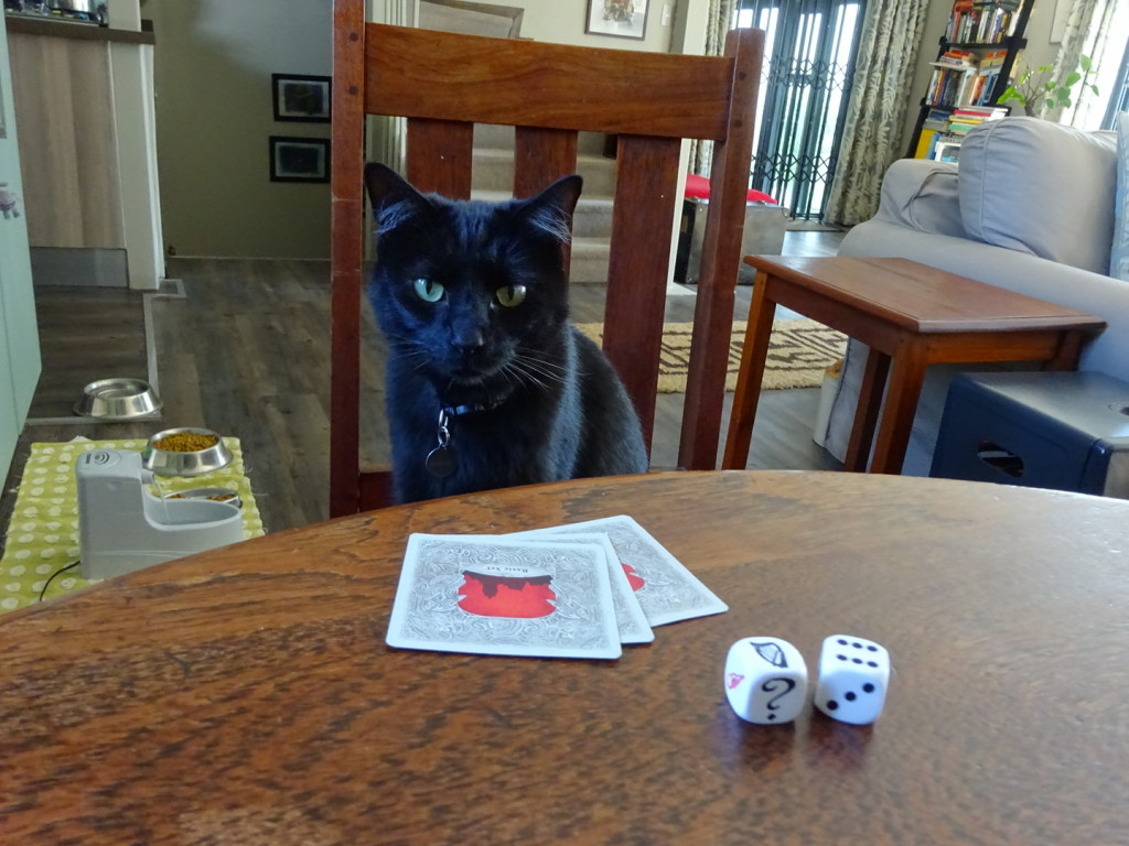 Bagheera played a mean game of Catan.