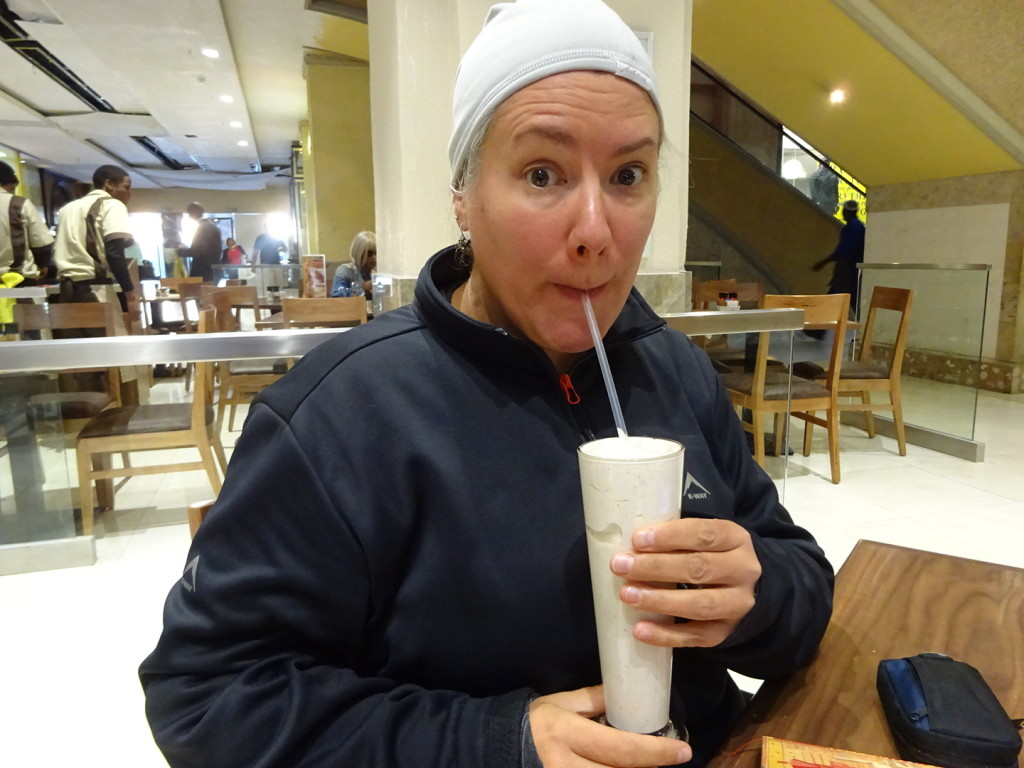 I don't care if I'm freezing, pass me the peanut butter chocolate milkshake...I have a fast to break.