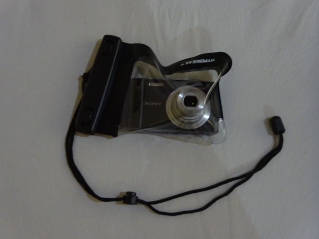 Especially as this was our underwater camera setup - a cheap point-and-shoot and a waterproof bag!