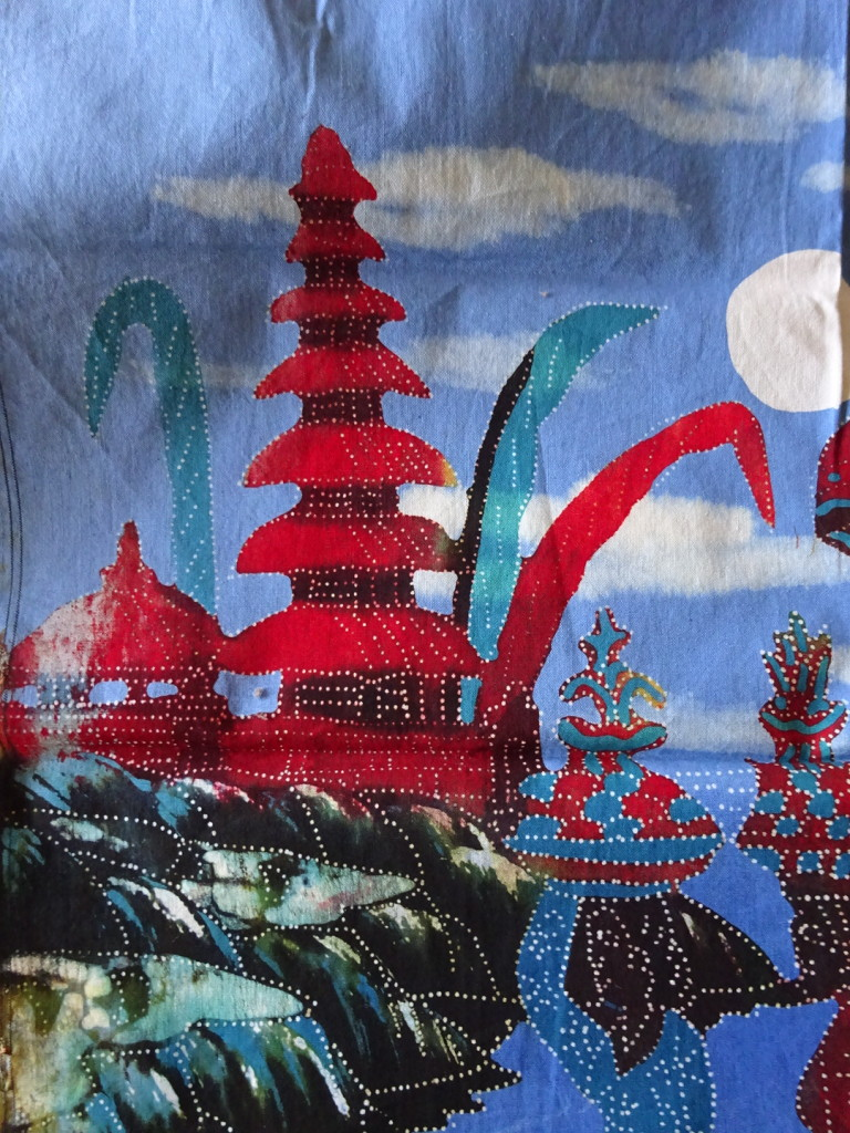 And we got this small one too - it's a batik of the temple we visited.