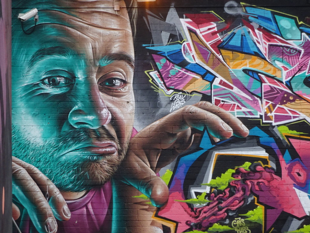 Another excellent mix of graffiti and street art. So stunning to me the work that can be done with a spray can!