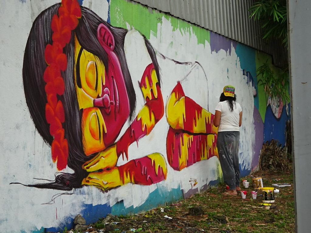 Street artist in action. Saw SO many artists here, but this one struck a chord with us. Panama City, Panama.
