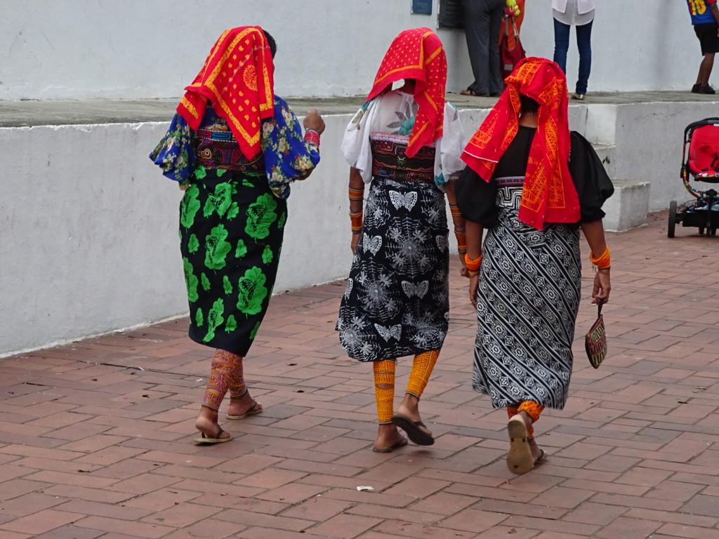 Traditional dress near the market in Panama City, Panama. ???