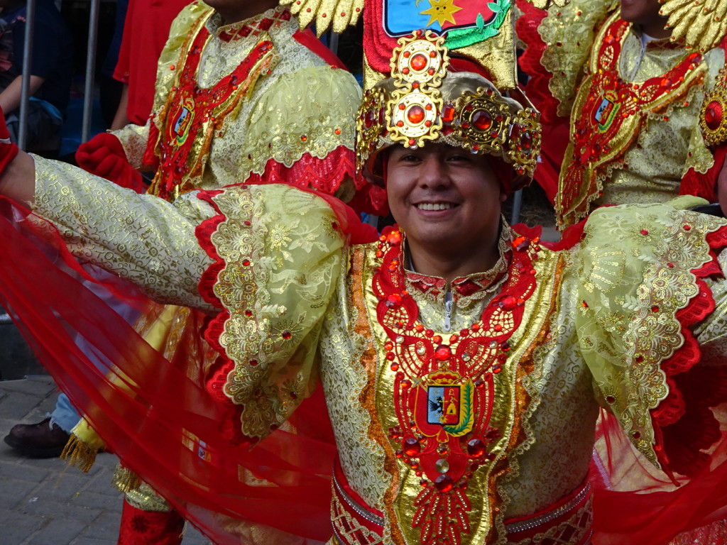 Carnaval!! This was another loooong parade, lasting all day. This guy personified the day. WHERE, Peru.