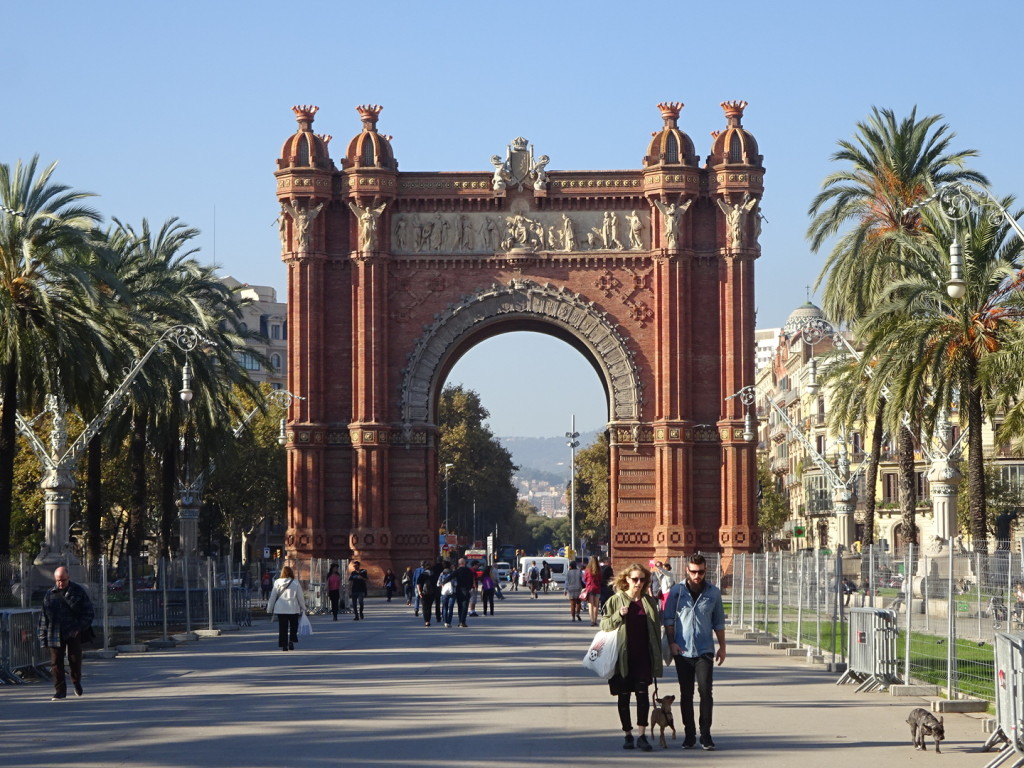 The Arc de Triomf where we met to start the street art tour. And yes, this IS the Barcelona Arc.