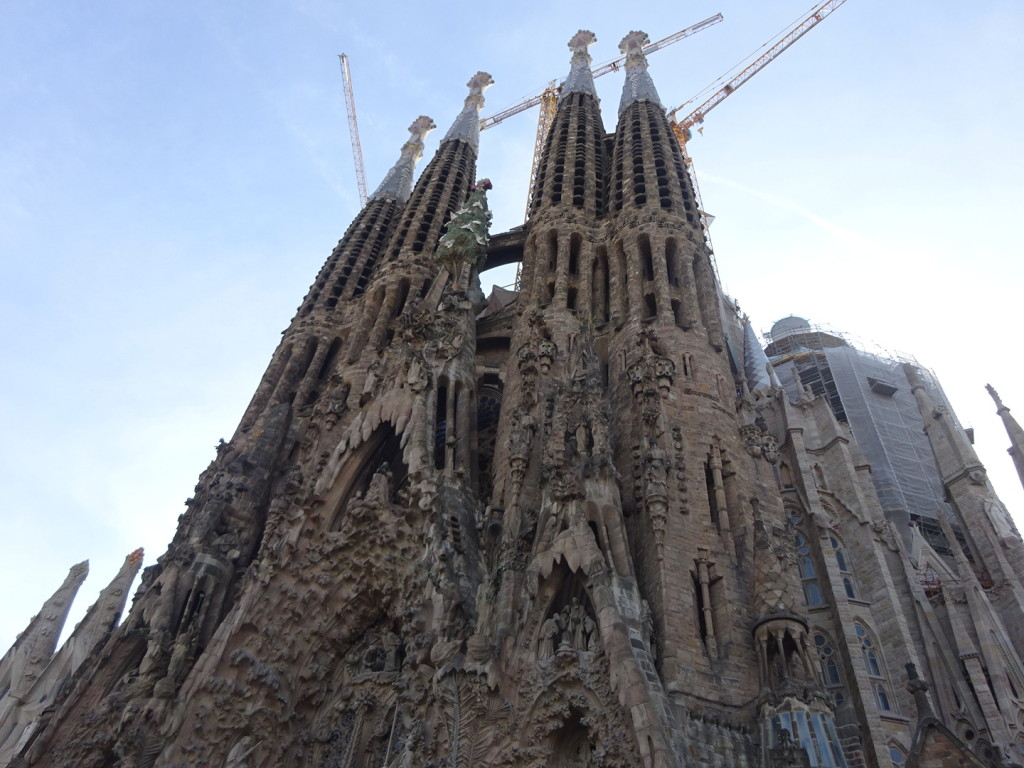 The Sagrada Familia. Welll be back to that in a future post on Gaudi. But let me say, this was most certainly the site that we collectively enjoyed the most. Beyond words, so we'll just stick with this photo.