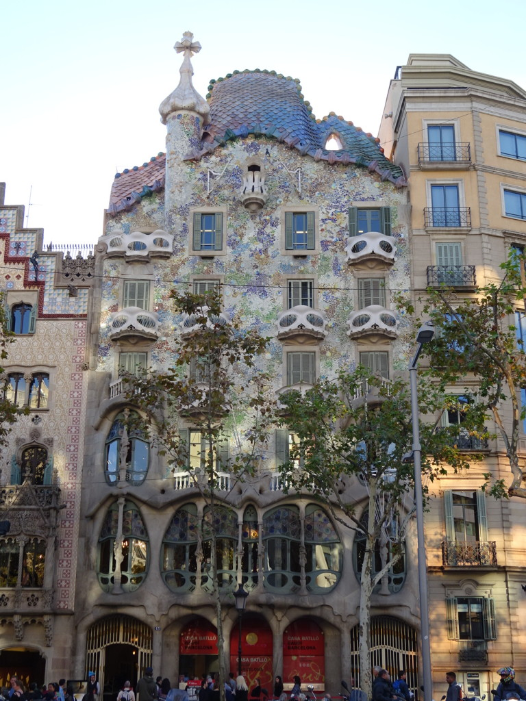 The exterior of Casa Batlo. I mean - look at that!