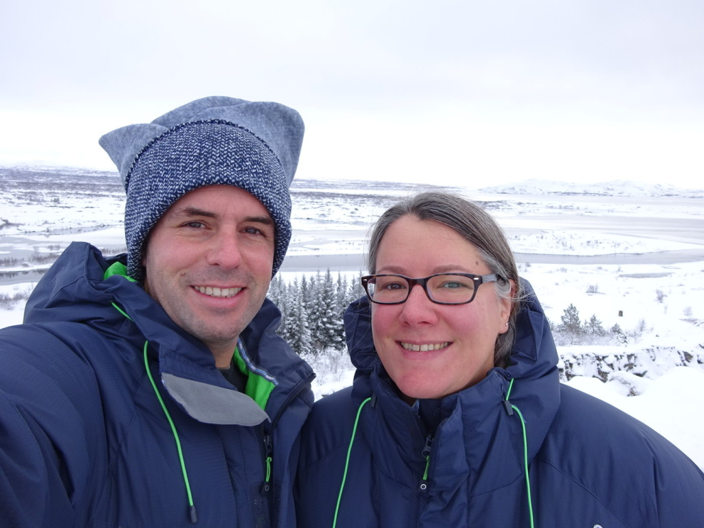 Our last full day in Iceland was spent on a tour of the Golden Circle. Behind us is the devide between North America and Eurasia. We feel divided between the contients at the moment so this seems about right.