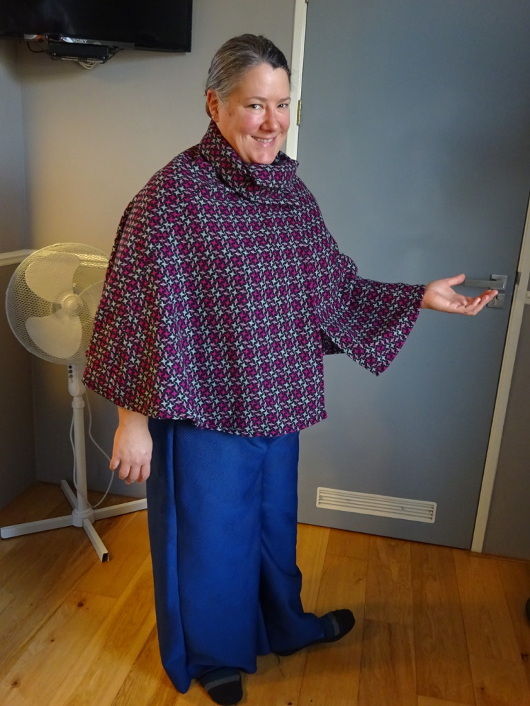 The lovely and talented Anner Charrier in her brand new cape and pants! Ooh-la-la, fashion world look out!!!