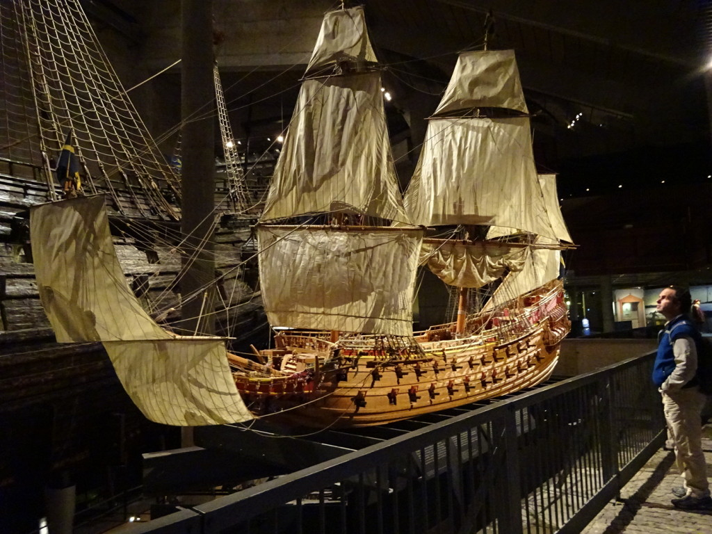 Scale model of the Vasa. It sat right next to the real one so you could really imagine what it looked like.