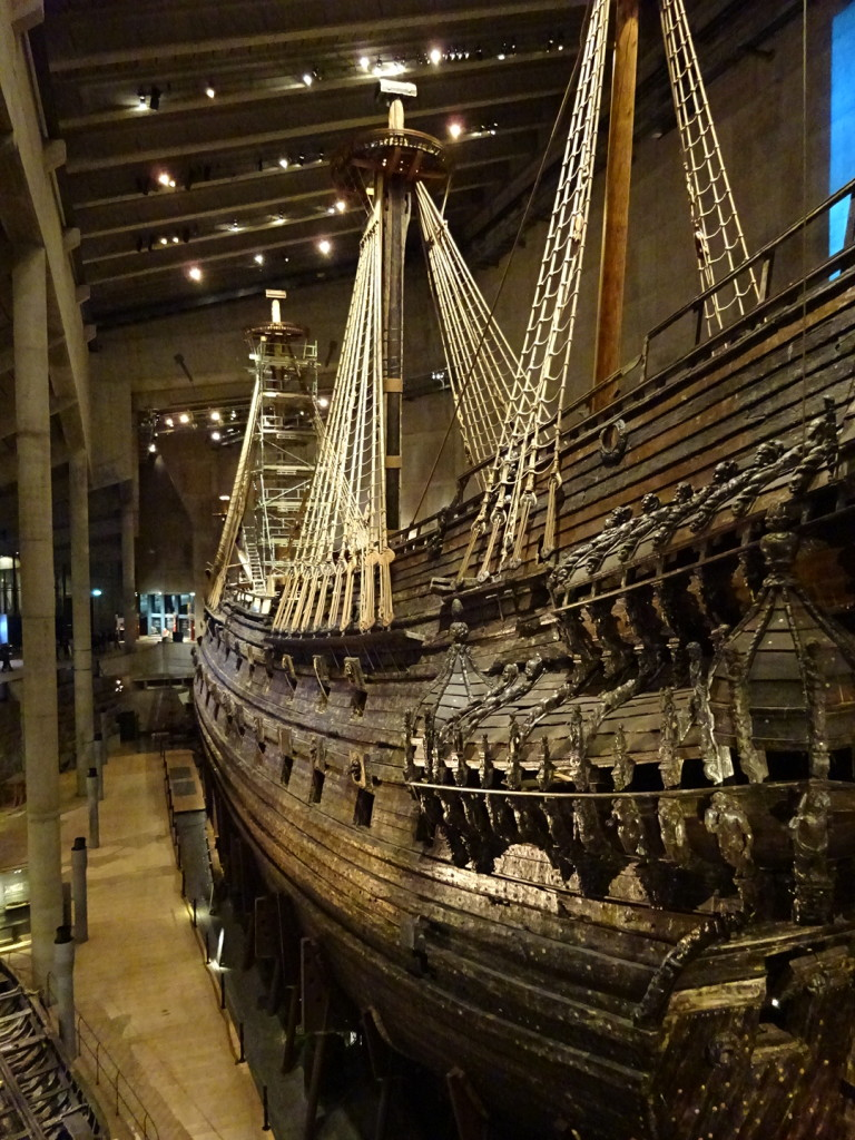 The Vasa under preservation. Nearly X% of it is original.