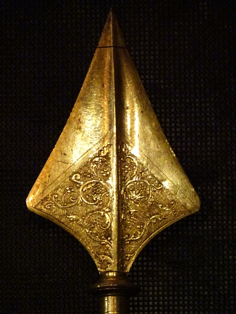 Beautiful work on a halberd tip.