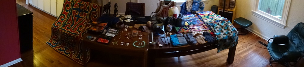 The next day I couldn't even fit everything into one panarama ((there's more stuff behind me).