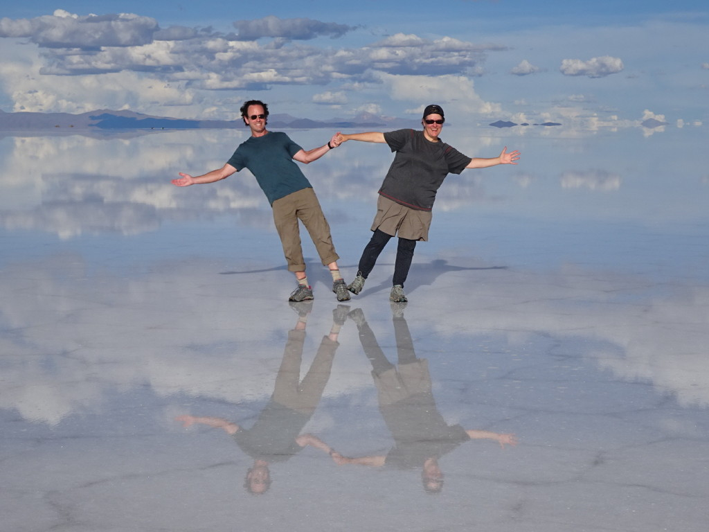 Rockin' my Darn Toughs on the Uyuni Salt Flats of Bolivia.