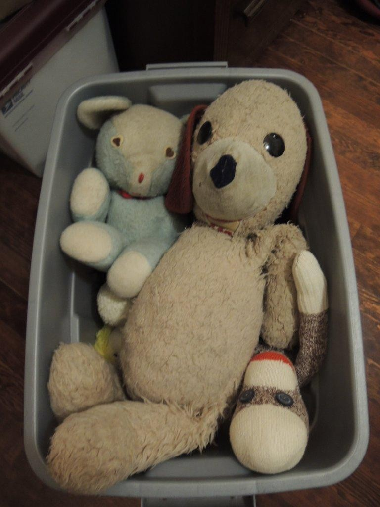 Somethings are priceless and never to be sold. Even packing up Blue Bear, Barry and sock monkey was hard to do. They were almost the first to be unpacked when we got home.
