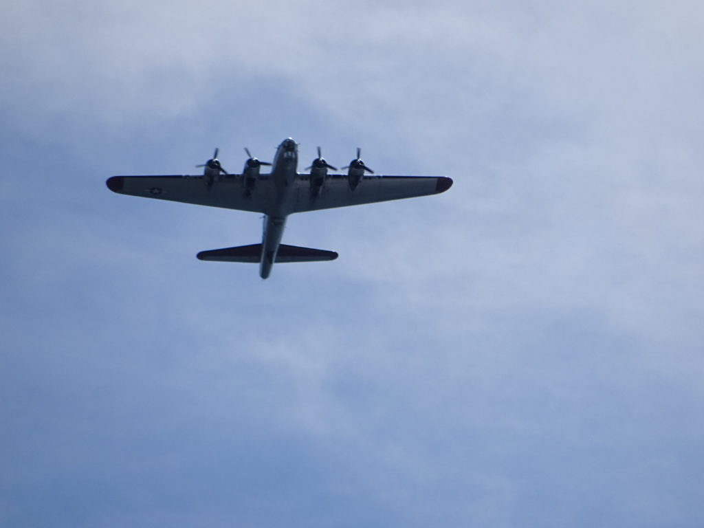Saw quite a few of these old timey planes flying over head.
