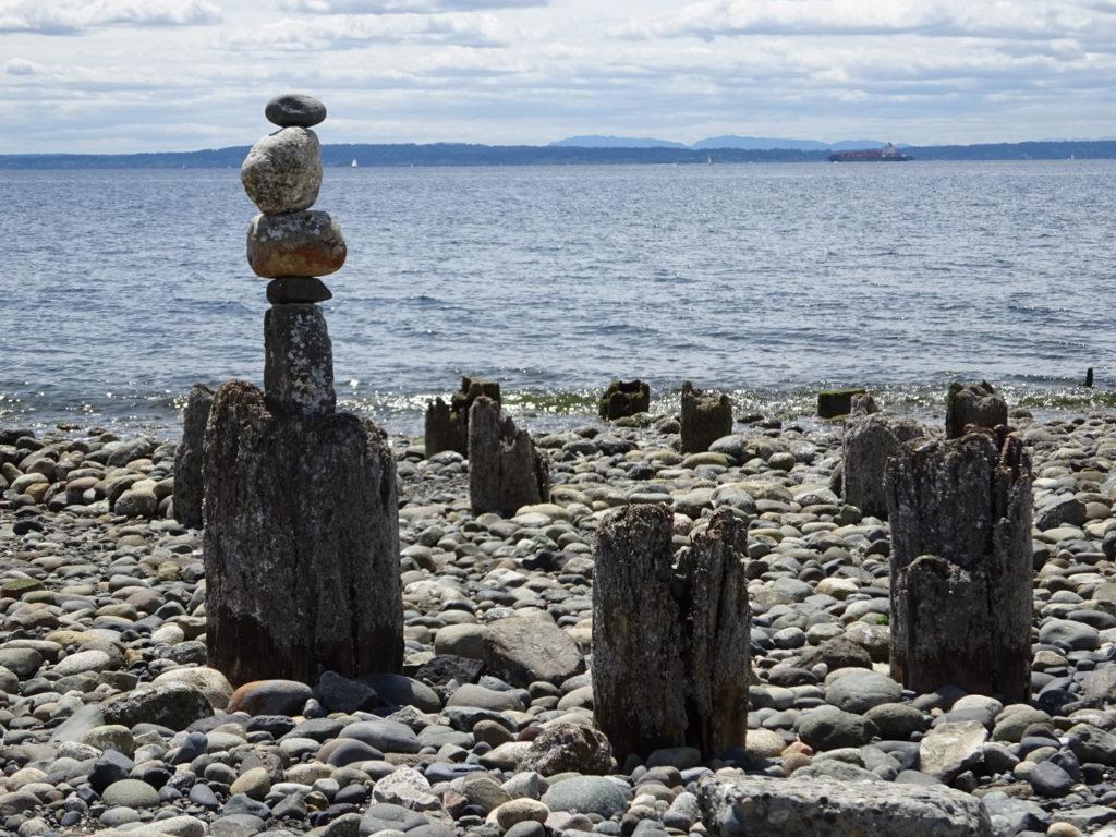 A whole lotta rock cairns.