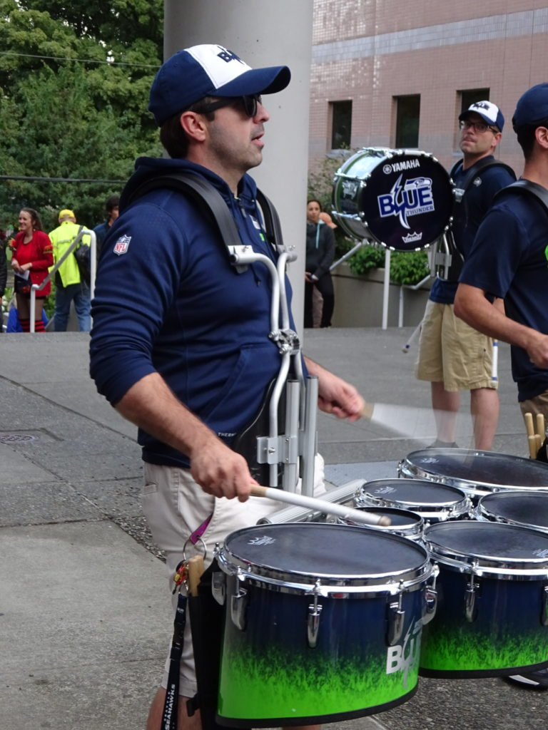 Nearly certain this is Tony Sodano - director of the Garfield HS drumline and member of the Blue Thunder.