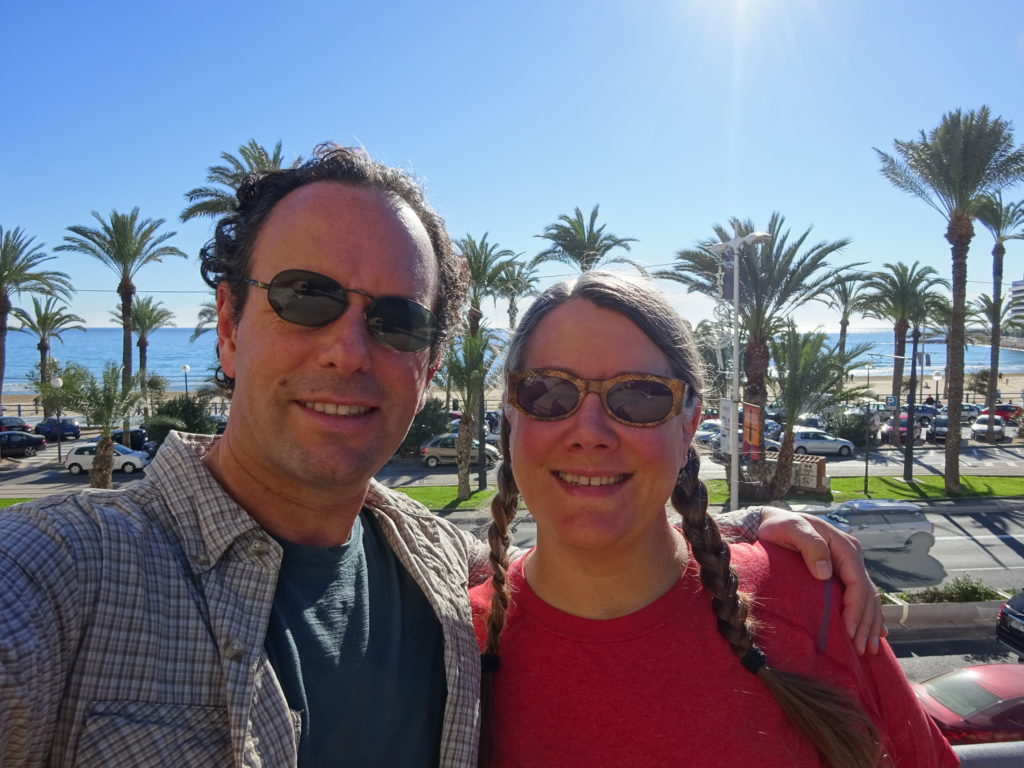 A seriously beautiful day with the Mediterranean behind us.