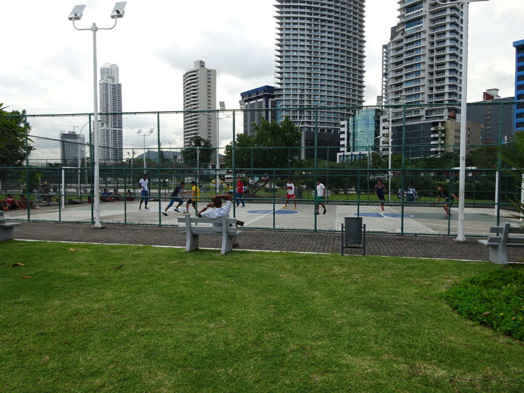 There are futbol courts all over where you would expect to see tennis. There is always a line-up of teams ready to play. There were ALWAYS games underway when we walked by.