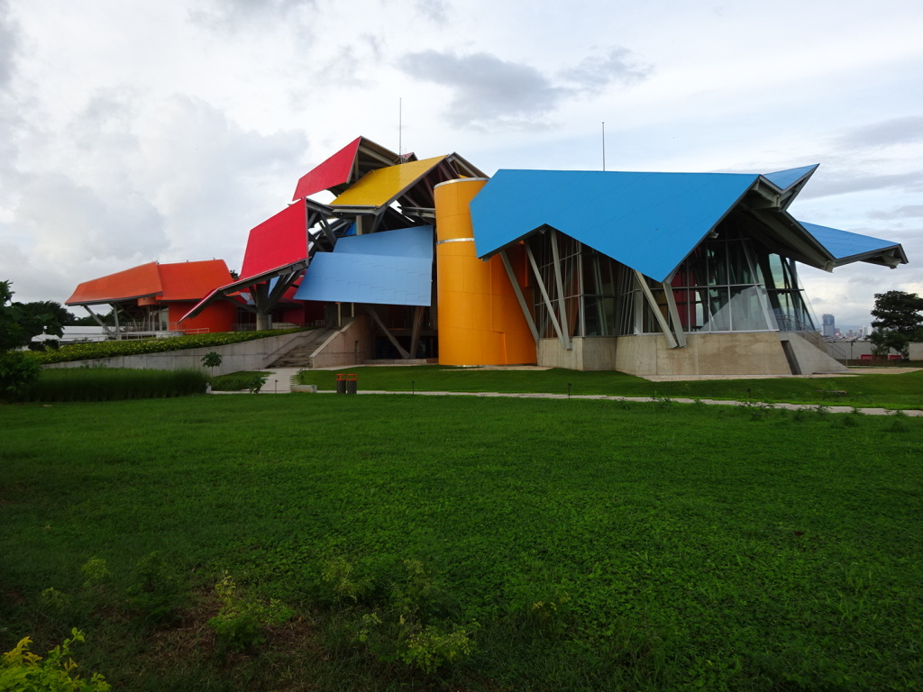 The brand new BioMuseo designed by Frank Gehry.