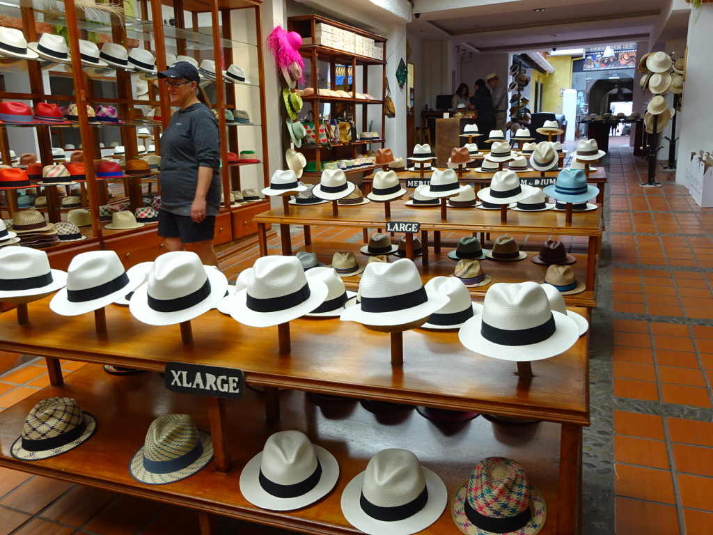 Panama hat factory in the heart of Cuenca.
