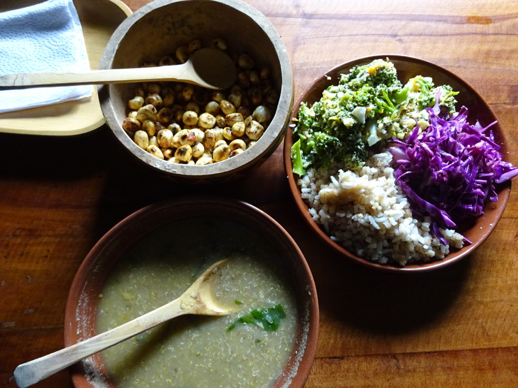 Lunch is served!  I loved, loved, LOVED the chard corn. It was a lot like the old maids from popcorn, but crunchier.