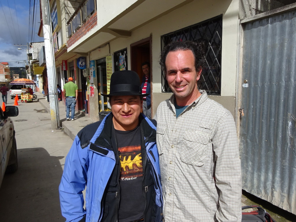 This is Lauro and Aaron. Lauro arranged all homestay, artist visits, hostels and gave us many recommendations. He was an excellent embassador for Saraguro.