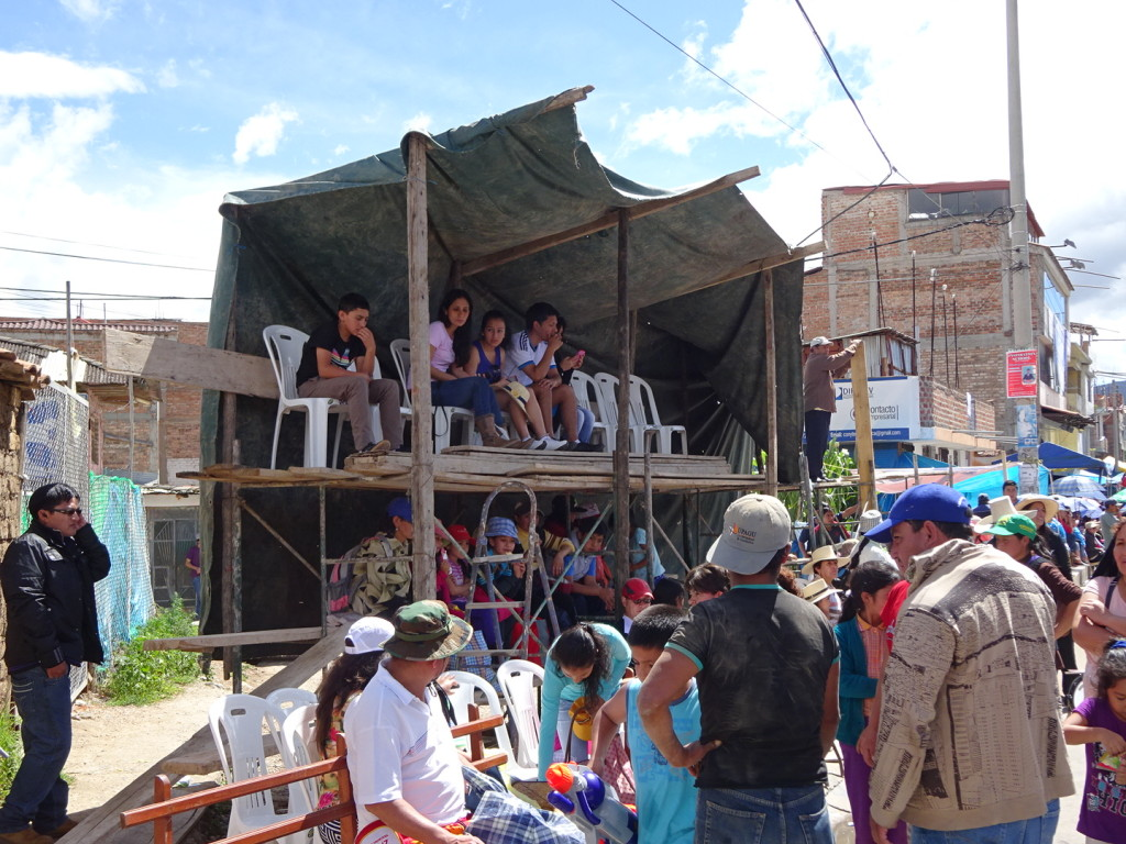 Every household and business on the parade route sold seats and sometimes built stands and bleechers.